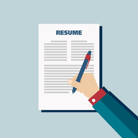 One Pager Text Resume